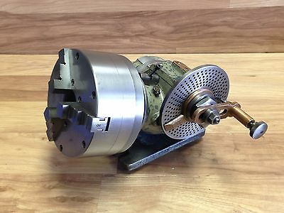 "Nice Ellis Dividing Head W/ 6"" Logan Chuck"