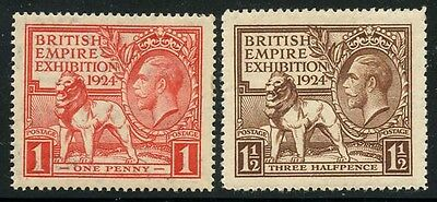 Great Britain 1924 Empire Exhibition set Sc# 185-86 NH