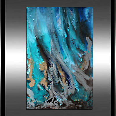 Acrylic PAINTING Ocean Art Beach Painting 36 BY 24 INCHES ON stretched Canvas
