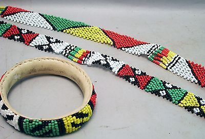 3-Beaded Jewelry Necklaces & Bracelet Traditional Colorful Glass Handmade Ethnix