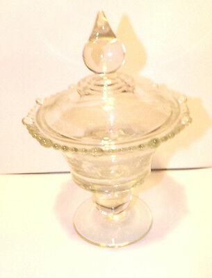 Vintage 1930's paden City Glass Etched Compote