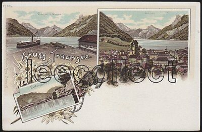 A O Traunsee - Ebensee - Litho - Gmunden