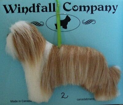 Fawn Bearded Collie Dog Soft Plush Canine Christmas Ornament # 2 by WC