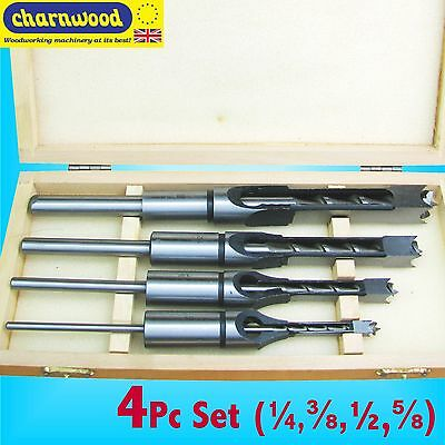 Charnwood 4pc Chisel Set for Morticer machines 1/4 3/8 1/2 5/8 - 3/4 Shank piece
