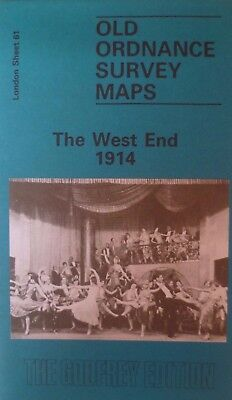 OLD ORDNANCE SURVEY DETAILED  MAPS LONDON THE WEST END 1914 Sheet .61 New