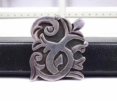 Early TAXCO Modernist Sterling Silver Vintage Mexico 1940's Signed Pin Brooch