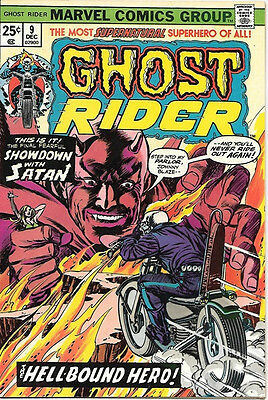 Ghost Rider Comic Book #9, Marvel Comics 1974 VERY FINE/NEAR MINT