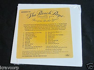 Beach Boys 'Greatest Hits Vol 3' 2000 Promo Cd—Sealed—Best Of Brother Years