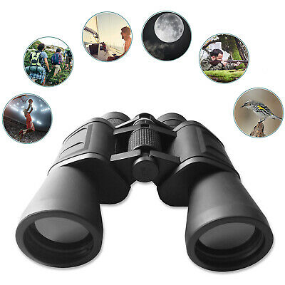 Quality 10x50 Binoculars & Carry Bag Case, Lens Caps Christmas Present Gift Idea