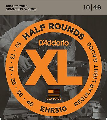 D'Addario EHR310 Half Rounds Stainless Steel Electric Guitar Strings 10-46