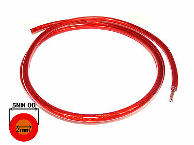 RED 10 AWG POWER CABLE 30 - 40 amps 5mm OD Automotive Cooling Fan Cable / Wire