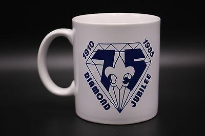 Boy Scouts VTG Diamond Jubilee Coffee Mug New Orleans Area Council 1985 BSA Show