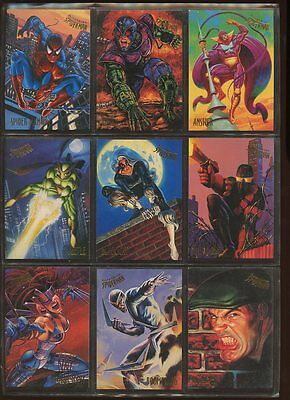 FLEER ULTRA SPIDER MAN #1-150 COMPLETE BASE SET & 29 INSERTS NEAR MINT #ns16-364