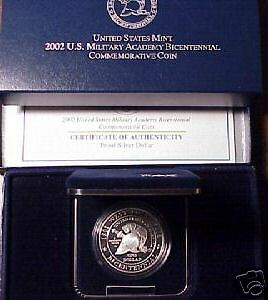 2002 US Mint--MILITARY ACADEMY-- SILVER PROOF SET