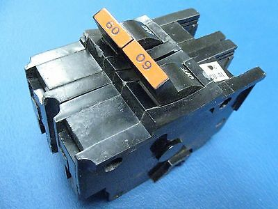 "60 AMP Chipped FEDERAL PACIFIC Double or 2 Pole Stab-Lok  2"" Wide BREAKER $ave"