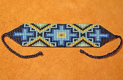 Glass Beads Four Directions Beadwork Ceremony Bracelet Colombia, South America
