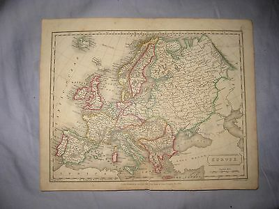Gorgeous Antique 1826 Europe Handcolored Dated Map France Ireland Italy Germany