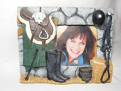 """English Riding Picture Frame 6 5/8"""" x 5.25""""  Picture space 2.75"""" sq. Horse Decor"""