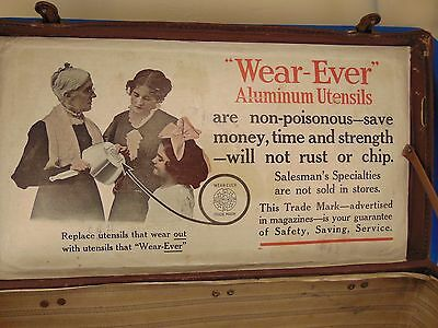 Antique Wear Ever Products salesman carrying case cardboard advertising sales