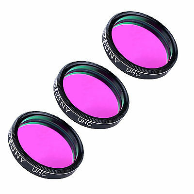 3Pcs Full Metal Optical 1.25'' UHC Light Pollution Reduction Filter for Eyepiece