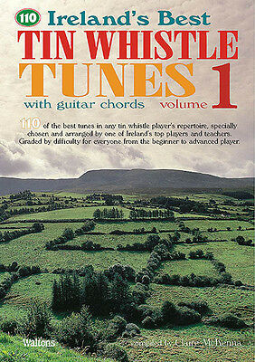 110 Ireland's Best Tin Whistle Tunes Vol 1 Irish Sheet Music Chords Book NEW