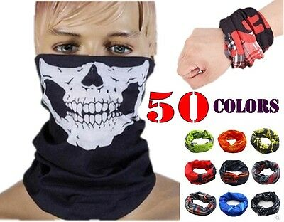Multi Colors Tube Scarf Bandana Head Face Mask Neck Gaiter Snood Headwear Beanie