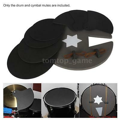 8 Piece Drum Set Silencer Practice Pads Mute with Cymbal Mutes NEW B1P0