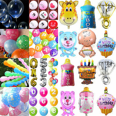 NT Number Letter  Printed Latex/Foil Balloons Party Wedding Birthday Decoration