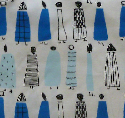Lucienne Day - Sequence   2 METRES UNUSED DRESS FABRIC blue colourway