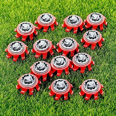 14pcs Red & Gray Golf Shoes SpikesFast Twist  TRI-LOK Replacement For Footjoy