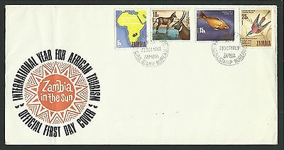 Zambia - 1969 First Day Cover - Tourism - 4 Stamps- Z513