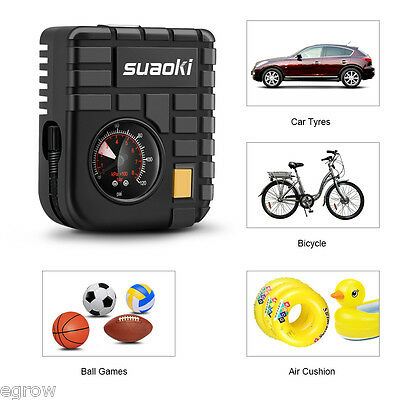 12V Mini Air Compressor Pump Portable Bicycle Motorcycle Tire Tyre Ball Inflator