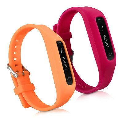 kwmobile 2x Sport Ersatz Armband für Fitbit One Rot Orange Silikon Flexibel