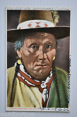 - CHIEF DAYWALKER Canadian Indian Chief vintage POSTCARD 1930s  -