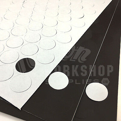 119 x SELF ADHESIVE 20mm MAGNETIC 1.6mm THICK SUPER HIGH ENERGY DOTS