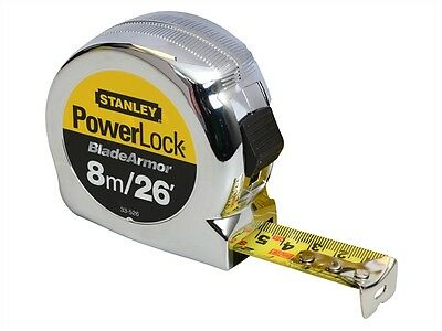 Stanley Tools Powerlock Rule Blade Armor 8m / 26ft (Width 25mm)