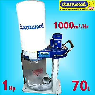 Charnwood W796 240v 1Hp Professional 70 Litre Portable Dust Extractor MDF