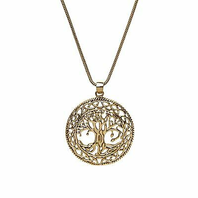 81stgeneration Women's Brass Tree of Life Celtic Wicca Pagan Pendant Necklace