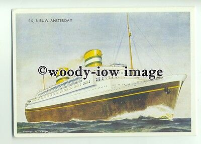 L8889 - Holland America Liner - Nieuw Amsterdam - artist not known - postcard