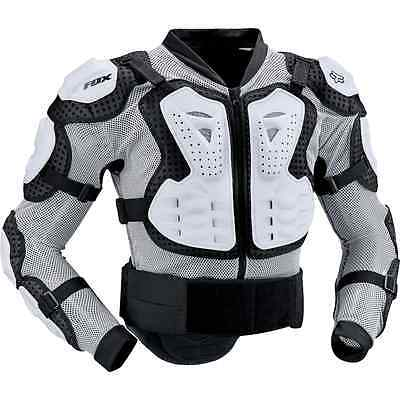 Fox Racing Titan Sport Jacket Body Roost Protector Armor Guard Brace WHITE 10050