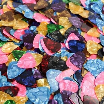 10 x GUITAR PICKS PLECTRUM Plec ELECTRIC ACOUSTIC BASS Assorted Colours 0.46mm
