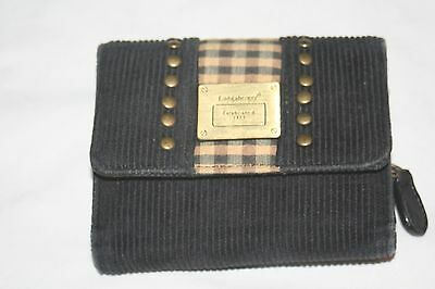 Longaberger Homestead Ladies Wallet Brown Plaid Black Corduroy