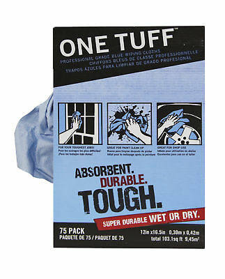 Trimaco 84075 One Tuff Automotive Paint Household Tool Wiping Cloths 75 Pack