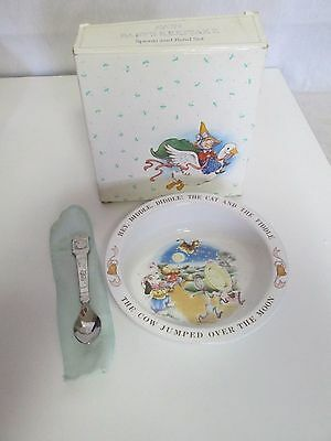 Avon Baby's Keepsake Spoon and Bowl Nursery Rhyme Hey Diddle Cat Fiddle
