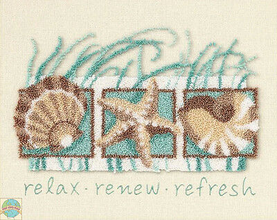 Punch Needle Kit Dimensions Seashells Collage Relax, Renew & Refresh #73152