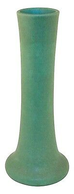 Teco Pottery Matte Green Arts and Crafts Vase Shape 120
