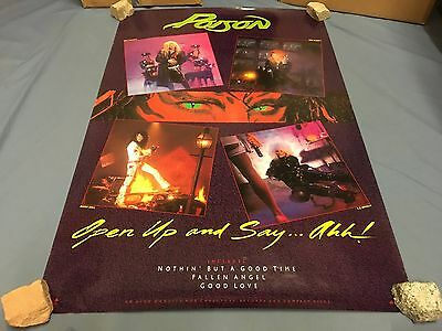 POISON open up and say ahh PROMO Poster 1988 Vintage 36x24