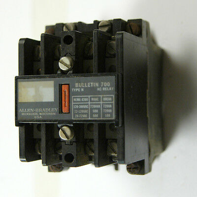 Control Relay 700N400A1  120V Coil, 4 N/o Contacts (C-6-1-6-18)