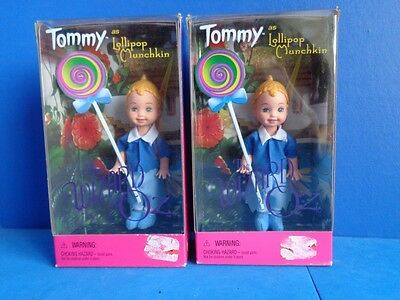 Pair Of Barbie Tommy As Lollipop Munchkin- Wizard Of Oz- Mib 1999