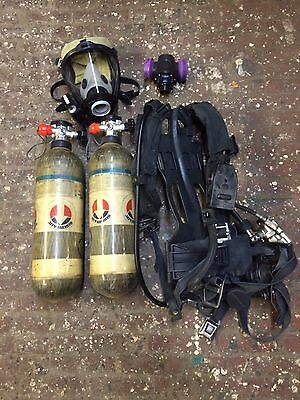 Survivair Panther SCBA Complete 4.5 4500 harness  (2) tanks (2006) and Mask